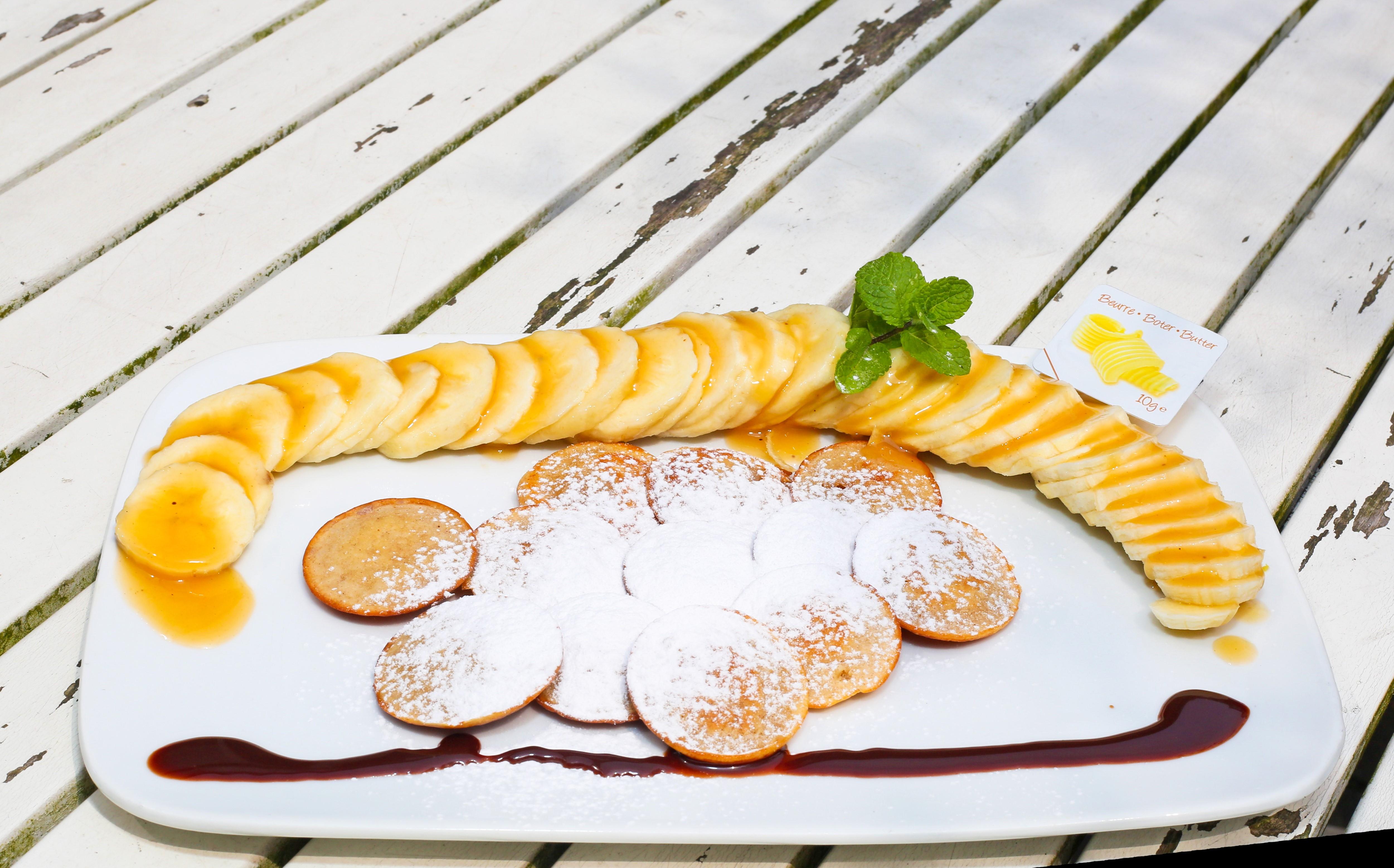 Mini Dutch Pancakes: Poffertjes met banaan